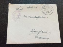Feldpost 1.WK 1917 1. KOMP. BATL. BRÜGGE - Lettres & Documents