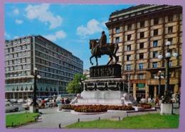 BEOGRAD - Jugoslavia (Serbia) - Trg Republike - Place De La Republique - Monument Au Prince Michel Obrenovic    - Nv - Jugoslavia