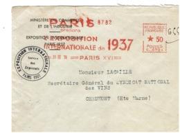 PARIS - EXPOSITION INTERNATIONALE DE 1937 - Marcofilia (sobres)