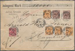 Deutsches Reich - Krone / Adler: 1895, Krone/Adler 10 Pfg. Karmin, 25 Pfg. Orange (4) Und 50 Pfg. Br - Deutschland
