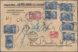 Deutsches Reich - Germania: 1915, Germania Friedensdruck 2 Mark Acht Werte Zusammen Mit 1 Mark Und 1 - Deutschland