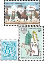 Belgien 2142,2143,2152 (kompl.Ausg.) Postfrisch 1983 Prozession, Löwe, Tineke-Fest - Belgien