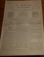 La Semaine Des Constructeurs. N°15. 21 Octobre 1876. Décoration Des Verres Blancs. Echafaudages Du Nouvel Hôtel De Ville - Livres, BD, Revues