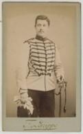 CDV Militaire Circa 1900 F. Larippe à Tours . Cavalerie . 7 Sur Le Col . - Photographs