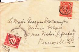 GRANDE BRETAGNE : Lettre Taxée Pour La Belgique - Covers & Documents