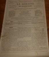 La Semaine Des Constructeurs. N°16. 28 Octobre 1876. Couverture En Ardoises Agrafées. Marché Du Gros Caillou. - Livres, BD, Revues