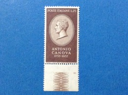 1957 ITALIA ANTONIO CANOVA 25 L FRANCOBOLLO NUOVO STAMP NEW MNH** - 1946-60: Nuovi