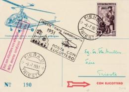 Carte Trieste  Hélicoptère  Feria Di Trieste 1951 - Trieste