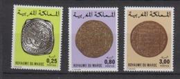 MAROC-1980-N°854A/854B/854C** ANCIENNES MONNAIES - Maroc (1956-...)