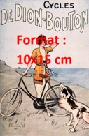 Reproduction D'une Photographie Ancienne D'une PublicitéCycles De Dion-Bouton De 1920 - Riproduzioni