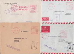 TURQUIE TÜRKIYE TURKEY - Lot De 266 Enveloppes En Affranchissement Automatique Meter Mail Stampless Cover Machine PP - 1921-... République