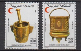 MAROC-1981-N°891/892** CROISSANT ROUGE - Maroc (1956-...)
