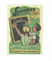 Carte Postale SPONTEX Eponge Dessin Chromo Publicitaire   105 X 148 Mm Neuve 2 Scans - Publicité