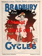 Reproduction D'une Photographie Ancienne D'une PublicitéBradbury First Cycles De 1900 - Riproduzioni