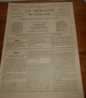La Semaine Des Constructeurs. N°18. 11 Novembre 1876. Piqûres De Vers Dans Le Bois. Paratonnerre. - Livres, BD, Revues