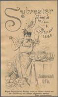 Ansichtskarten: Vorläufer: 1885, WIEN Einladungskarte Sylvesterabend 5. Jänner 1885, Vorläuferkarte - Ohne Zuordnung