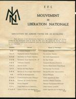 FRANCE : DOCUMENT SECRET DES F .F . I . DE LA PERIODE DE CLANDESTINITE , A VOIR . - Variétés Et Curiosités
