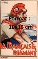Reproduction D'une Photographie Ancienne D'une PublicitéCycles La Française Diamant De 1910 - Riproduzioni