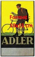 Reproduction D'une Photographie Ancienne D'une Publicité Cycles Adler De 1900 - Riproduzioni