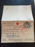 Kriegsgefangenenpost 1. WK  1915 Wien Nach KNOCKALOE ALIENS CAMP  ISLE OF MAN  Zensur Und ROTES KREUZ - Deutschland