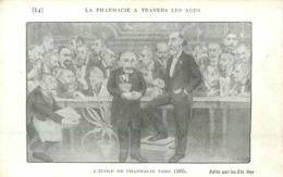 LA PHARMACIE A TRAVERS LES AGES - L'école De Pharmacie (carte Illustrée Par C Fuchs). - Gesundheit
