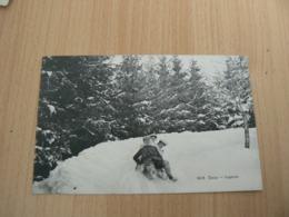 CP 76 / SUISSE / CAUX LUGEURS / CARTE VOYAGEE - Suisse