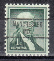 USA Precancel Vorausentwertung Preo, Bureau Maryland, Manchester 734 - Vereinigte Staaten