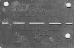 Plaque D'identité Prisonnier Stalag 2288  VI H  WW2 (prisonnier évadé) - Non Classés