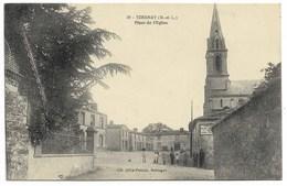49-YZERNAY-Place De L'Eglise...  Animé - France