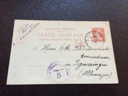 1919 SAVERNE Postkarte Nach Sigmaringen Deutschland Mit Zensur - France