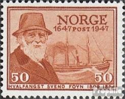 Norwegen 330 Mit Falz 1947 Norwegische Post - Norwegen