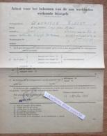Attest Voor Het Bekomen Van De Aan Werklieden Verleende Bijzegels, Werkhuizen Cocquyt-De Ceulener, Gent 1945 - Verzamelingen