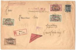 1922 LR En Valeur Déclarée Du 13/4/22 Pour Magdebourg; Cachet D'arrivée Au Verso - Lettres & Documents