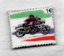 Fève  Forme  Timbre  1 €, B D  Moto  Verso  JOE  BAR  TEAM  Editions  Vents  D' Ouest - BD