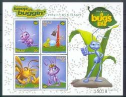 Nfe304b WALT DISNEY A BUGS LIFE MIER CIRCUS BEETLE LADYBUG CATERPILLAR ANT INSECTS PALAU 1998 PF/MNH - Disney