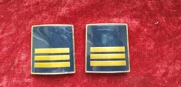 Coppia Gradi Vintage Obsoleti Sovrintendente Capo Polizia Di Stato - Polizia