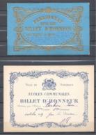 BORDEAUX Très Beau Lot De Billets D'honneur Dont Un De 1879 - Diploma & School Reports