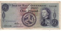 ISLE OF MAN  1 Pound   P25a    ND  1961   Signature  Garvey - Isle Of Man / Channel Island