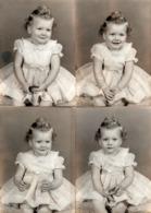 4 Photos Studio Originales USA Portrait De Bébé Pin-Up Sher Vers 1950/60 - Pin-up