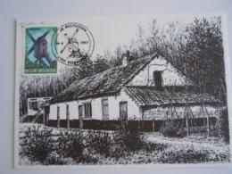 """België Belgium Stempel 14-6-1987 Club De Posthoorn Keerbergen """"Heimolen"""" Molen Moulin"""" Cob 2256 Op Kaart - Postmark Collection"""