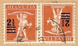 TÊTE-BÊCHE OBLITERE 1921 C/.S.B.K. Nr:K13. Y&TELLIER Nr:179a. MICHEL Nr:K13. - Tête-Bêche