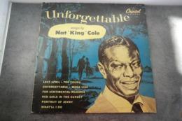 Disque 33 Cm De Nat ' King' Cole - Unforgettable - Capitol 2C 068-54571 - Réédition Française 1983 - - Jazz