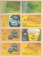 GRIECHENLAND  61 Verschiedene Telefonkarten Carlsberg Bier - Siehe Scan - Lebensmittel