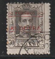 ANDORRE ESPAGNOL - N°7 (B)  Obl (1928) 30c Sépia : 13x12,5 - Andorre Espagnol