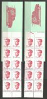 1986 - COB Carnet N° 18 Et 18-V ** (MNH) - Carnet 18-V Avec N° De Planche 1 - Booklets 1953-....