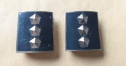 Coppia Gradi Vintage Obsoleti Ispettore Capo Polizia Di Stato - Polizia