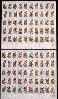 Etats-Unis - 1982 - 2 X Feuille Complète Des N° 1382 à 1431 - LES DEUX DENTELURES ( 11 Et 10.5 X 11 ) RARE à Trouver ! - Blocks & Sheetlets