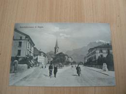 CP 77 / SUISSE / BAHNHOTSTRASSE IN RAGAZ / CARTE NEUVE - Suisse