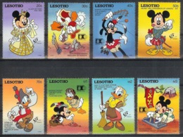 Nap771  WALT DISNEY KLEDERDRACHT MICKEY DONALD MINNIE COSTUMES EXPO LESOTHO 1992 PF/MNH - Disney
