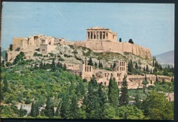 °°° 14553 - GREECE - ATHENS - GENERAL VIEW OF AKROPOLIS - 1977 With Stamps °°° - Grecia